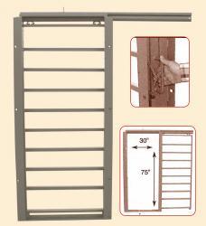 Porte horizontale coulissante